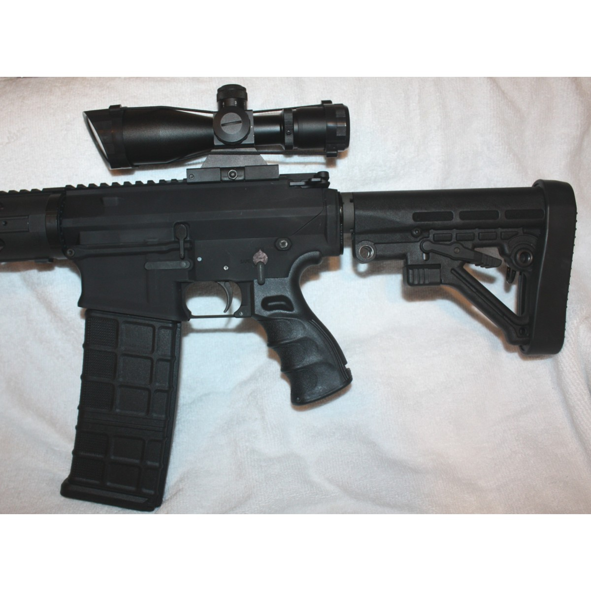 Stag 10 DPMS 308 Rifle, 16 Inch Barrel, Quad Stock, Enhanced