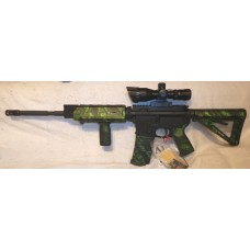 Anderson 5.56 NATO Rifle, Magpul Green Reaper Set, Vertical Grip, 2.5-10X40 Red Green Dual Illuminated Scope With Laser