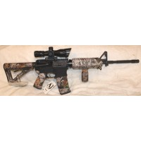 Anderson 5.56 NATO Rifle, Magpul Vista Camo Set, Vertical Grip, Scope With Red Laser