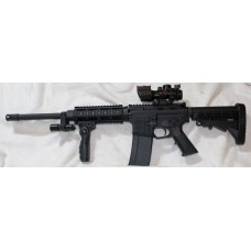 """Anderson 458 SOCOM Rifle, 7"""" Quad Rail, Vertical Grip, Laser & Flashlight, 4X32 Tricolor Scope With BUIS"""