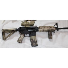 Anderson BCA 5.56 NATO Rifle, Magpul Kryptek Highland Set, A2 Front Site, 4x32 Site With Fiber Optic BUIS