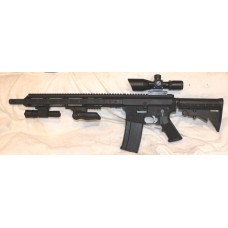 "Anderson BCA AR15, 300BLK, 15"" Slim M-LOK, Scope, Laser Flashlight VG"