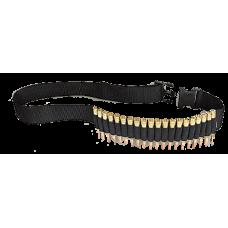 """Allen Rifle 20 Round Cartridge Belt - Black - Up To 52"""" Waist"""