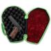 Bulldog Molded Black & Green Trim  Zombie Coffin Pistol Hard Case