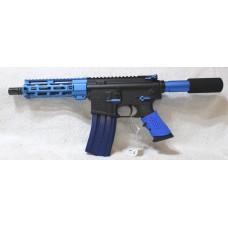 "The Anderson Blue AR-15 Pistol, 7.5"" Barrel, Caliber 223/5.56, Aluminum Lower, 7"" Tactical MLOK Handguard, 30 Rounds"