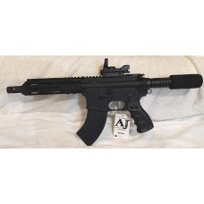 "Anderson AR15 7.62x39 Pistol 7.5"" Barrel, Reflex Site With Laser, 30 Rounds, Match Grade Stainless Trigger and Hammer"