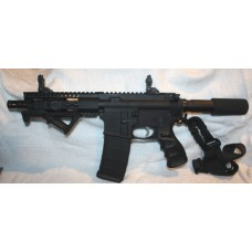 "Anderson AR-15 Pistol, 7.5"" Barrel, Caliber 223/5.56, Flip Up Sights"