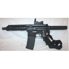 "Anderson BCA AR-15 Pistol, 7.5"" Barrel, Caliber 223/5.56, 7"" Slim MLOK Handguard, Reflex Site, Single Point Sling, 30 Round P-Mag"