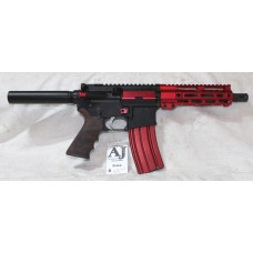 "Anderson Red AR-15 Pistol, 7.5"" Barrel, Caliber 223/5.56, Aluminum Lower, 7"" Tactical MLOK Handguard, 30 Rounds"