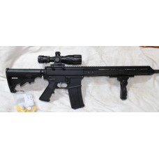 """Anderson AR15 Left Hand 5.56 Rifle, Side Charging BCA Upper, 16"""" Barrel, 15"""" MLOK Rail, 30 Rounds, Folding Grip, 2.5-10X40 Dual Illuminated Scope With Laser"""