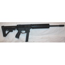 "New Frontier 9MM AR9 Semi Auto Rifle, 33 RDS, Glock Mags, 12"" Quad Hand Guard, Stainless Steel Match Trigger and Hammer"