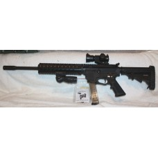 Tac-9 9MM AR9 Rifle, 30 Rounds, Quad Rail, Folding Fore Grip, Red/Green Dot Sight