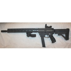 Tac-9 9MM AR9 Rifle, Grey & Black, Red/Green Reflex Site, Glock Mags
