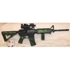 Bear Creek AR15 5.56 Rifle, Moe Magpul Green Reaper, 4X32 Sight With Flash Light & Laser