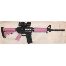 Bear Creek Pink and Black AR15 5.56, 4X32 Tricolor Sight With Fiber Optic BUIS