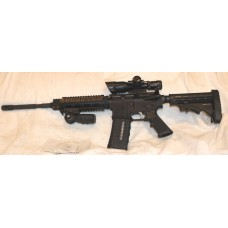 "Anderson Stag Left Hand AR15, 5.56 NATO, 7"" Quad Rail, Scope, Laser, Vertical Grip"