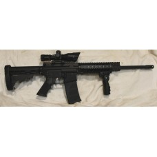 """Anderson AR15 Left Hand 300BLK Rifle, 7"""" Quad Rail, Folding Vertical Grip, 2.5-10X40 Dual Illuminated Scope With Laser"""