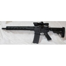 """Anderson Left Hand 5.56 Rifle, 15"""" MLOK, 2.5-10X40 Dual Illuminated Scope With Laser"""