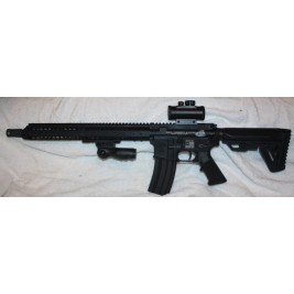 "Anderson BCA Custom Engraved AR15 458 SOCOM, 15"" Slim Key Mod, Red Dot"