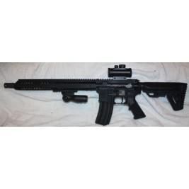 "Anderson BCA Custom Engraved AR15 458 SOCOM, 15"" Slim Key Mod, Red Dot"