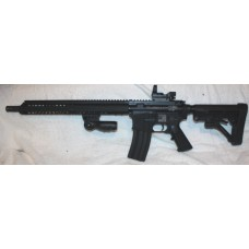 "Anderson BCA Custom Engraved AR15 7.62x39 Semi Auto Rifle, Reflex Site, Folding Grip, 15"" Slim Key Mod Hand Guard"