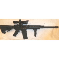 "Anderson AM15 AR15 .300 Blackout, 16"", Pistol Length Gas System, 7"" Quad Handguard, Vertical Folding Grip, Scope With Laser"