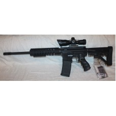 "Anderson AR-15 Rifle, Caliber 300BLK, 16"" Barrel, Aluminum Lower, 10"" Hand Guard, Dual Illuminated 2.5-10X40 Scope With Red Laser"