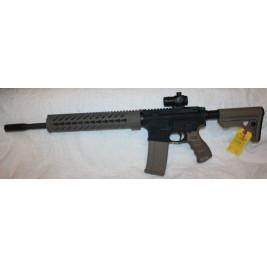 """Anderson FDE & Black AR15 5.56/223 Semi Auto Rifle, 16"""" Barrel, Red Dot Sight"""