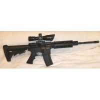 """Anderson AM15 5.56/223 Rifle 7"""" Tactical Quad Rail 2.5-10X40 Dual Illuminated Scope With Red Laser"""