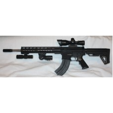 Anderson 7.62x39 AR15 Rifle, Stainless Bar, Scope, Laser & Flash Light