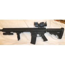 "Bear Creek AR15 458 SOCOM, Side Charger, 15"" Slim M-LOK, Folding Fore Grip, 4X32 Tricolor Prismatic Scope, Flashlight, CMMG 458 Magazine"