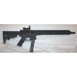 "BCA AR9 9MM Rifle, 16"" Bar Glock Mags Reflex Site"
