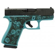 "Glock 43X Custom Engraved ""Tiffany & Paisley"" Handgun 9mm Luger 10rd Magazine 3.41"" Barrel Tiffany Frame"