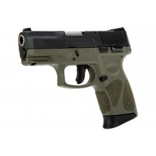 Taurus G2C 9MM Semi Auto Pistol, Black & ODG, 3.2 Inch Barrel, 12 Rounds, 2 Mags
