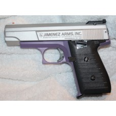 Jimenez JA Nine Satin Stainless & Purple 9MM 12 RD