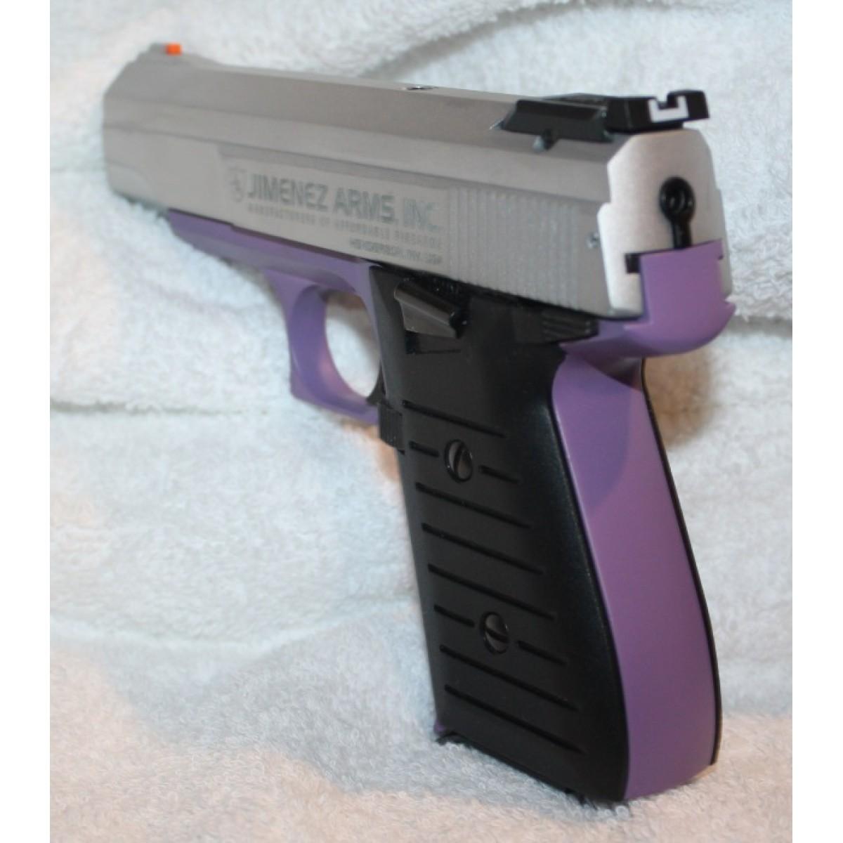 Jimenez Arms JA Nine Purple and Brushed Silver 9MM Semi Auto