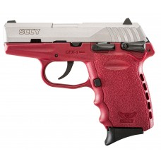 """SCCY Industries CPX-1TTCRRD CPX-1 Double Action 9mm 3.1"""" 10+1 Crimson Red"""