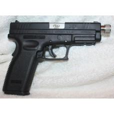 Springfield XD 45ACP Black Semi Auto Pistol, Threaded Barrel, 13+1 Rounds