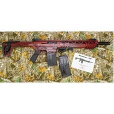 Monastor 102 Battle Worn Red Mag Fed Semi Auto 12 Gauge Shotgun, 2 Five Round Mags